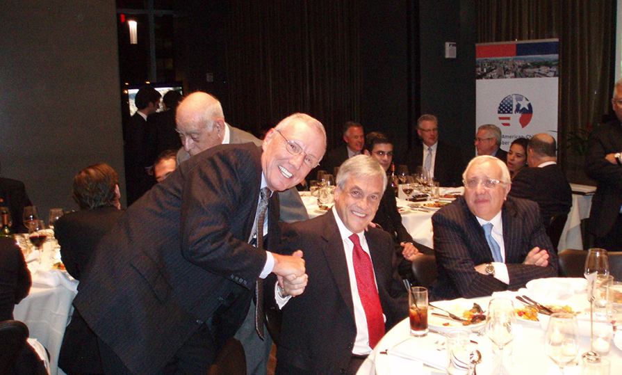 Jack Stoddard and President Pinera at the NA Chilean Chamber Gala in NYC Sept 21st 2011