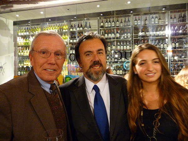 Jack Stoddard of Web Associates, Chile's Consul General for New York, Julio Fiol, and Alejandra Perez of Nova Red