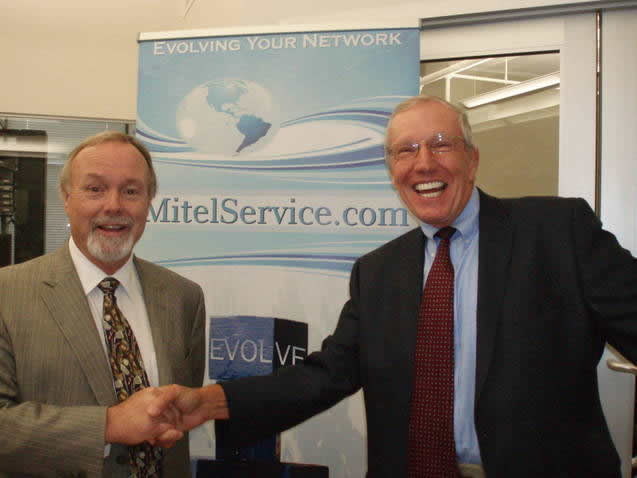 Mitel co founder and Chairman  SirTerry Matthews and Jack Stoddard at the Embrace Cortel Town Hall  Fri Aug 24th 2012