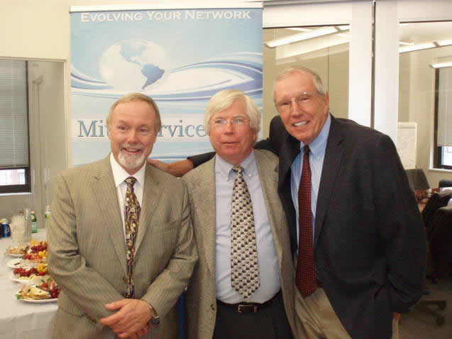 Wesley Clover Solutions CEO Pete Madsen and Jack Stoddard and Terry Matthews